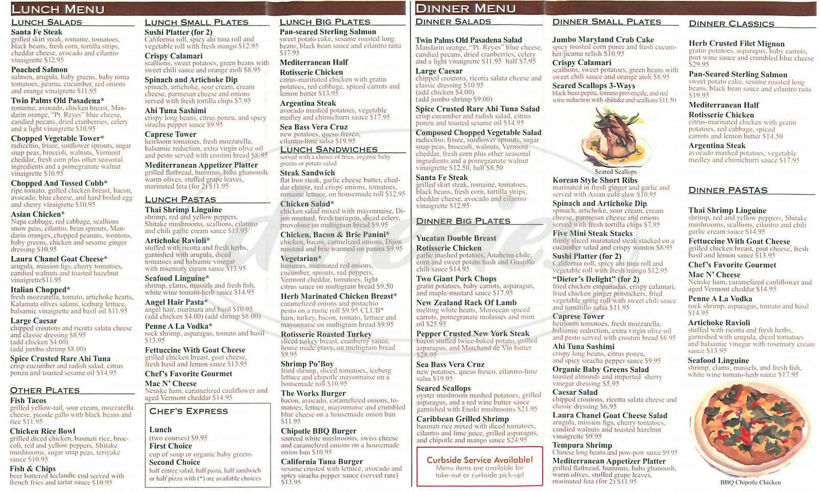 daceb4e29e5f menu for Twin Palms. Menu items and prices are subject to change anytime.